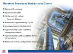 marathon petroleum statistics at a glance