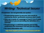 writing technical issues1