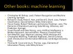 other books machine learning