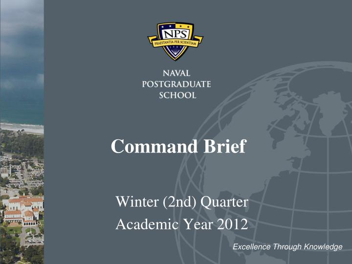 command brief n.