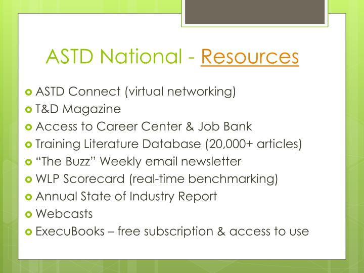 ASTD National -