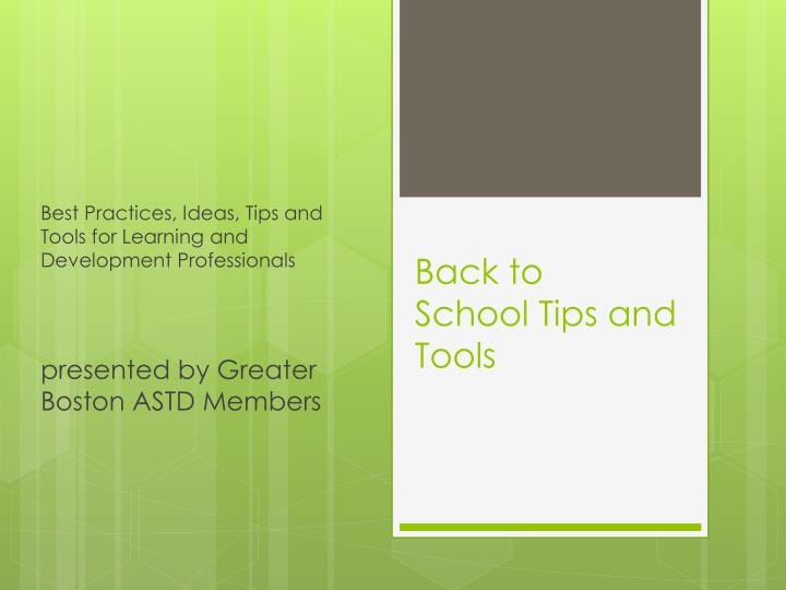 back to school tips and tools n.