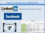 how to track your network