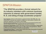 spafoa mission