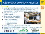 a d praha company profile