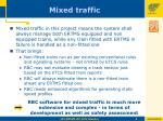mixed traffic