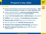 project s key data