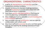 organizational characteristics