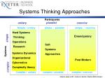systems thinking approaches