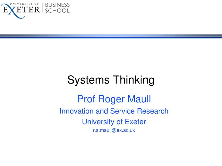 systems thinking n.