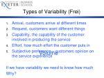 types of variability frei