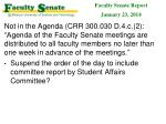 faculty senate report january 23 2014