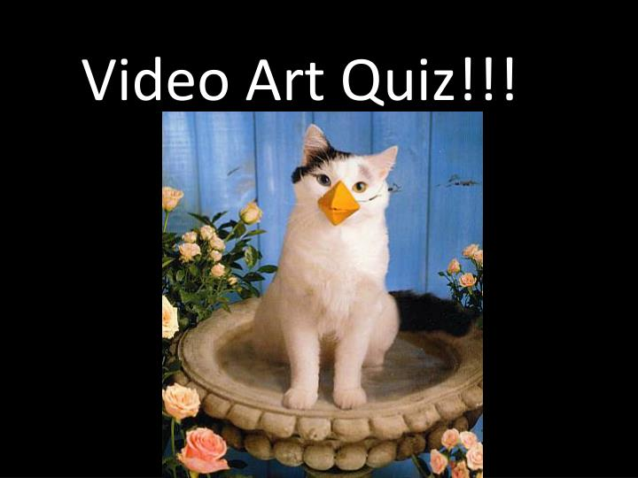 Video Art Quiz!!!
