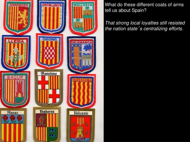 What do these different coats of arms tell us about Spain?