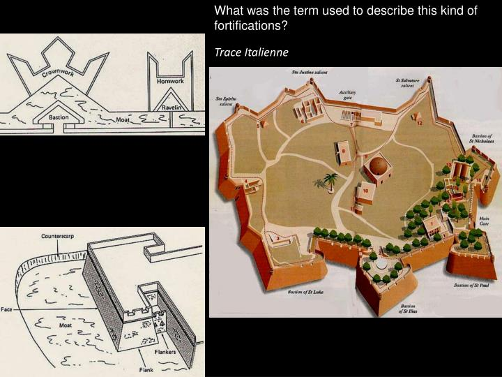 What was the term used to describe this kind of fortifications?