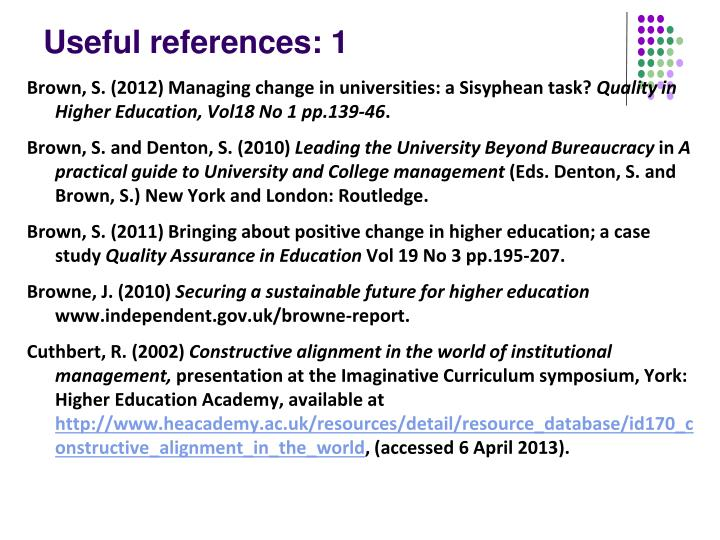 Useful references: 1