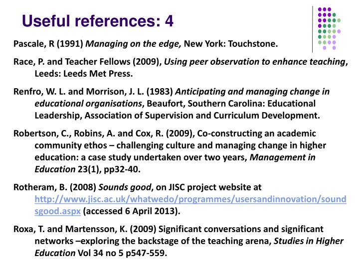 Useful references: 4