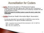 accreditation for coders