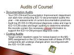 audits of course