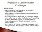 physician documentation challenges