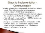 steps to implementation communication