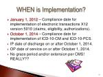 when is implementation