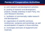forms of cooperative activities
