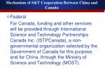 mechanism of s t cooperation between china and canada