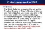 projects approved in 20075