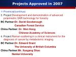 projects approved in 20077