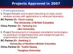 projects approved in 20078