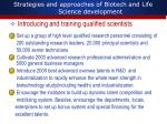 strategies and approaches of biotech and life science development1