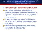 strategies and approaches of biotech and life science development4