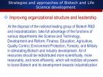 strategies and approaches of biotech and life science development6