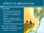 effects of mercantalism