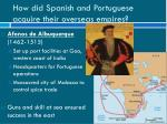 how did spanish and portuguese acquire their overseas empires1