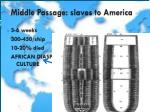 middle passage slaves to america