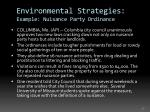 environmental strategies example nuisance party ordinance