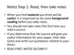 notes step 1 read then take notes