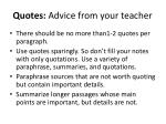 quotes advice from your teacher