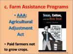 c farm assistance programs
