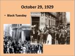 october 29 1929