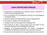 cash certificates frauds