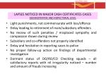 lapses noticed in major cash certificates cases administrative and inspectorial level1