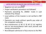 lapses noticed in major cash certificates cases po level