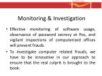 monitoring investigation