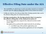 effective filing date under the aia