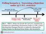 polling scenario 2 traversing a rejection under 35 u s c 102 a 21