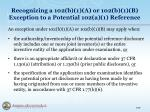 recognizing a 102 b 1 a or 102 b 1 b exception to a potential 102 a 1 reference