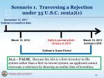 scenario 1 traversing a rejection under 35 u s c 102 a 15